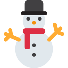 Snowman Without Snow twitter emoji
