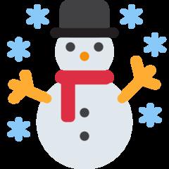 Snowman twitter emoji