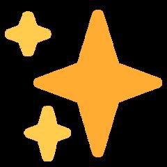 Sparkles twitter emoji
