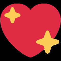 Sparkling Heart twitter emoji