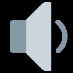 Speaker With One Sound Wave twitter emoji