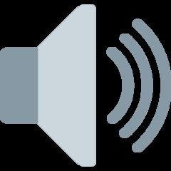 Speaker With Three Sound Waves twitter emoji