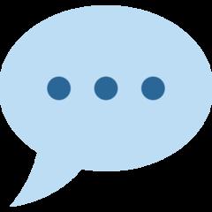 Speech Balloon twitter emoji