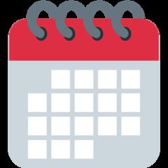 Spiral Calendar Pad twitter emoji