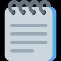 Spiral Note Pad twitter emoji