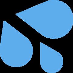 Splashing Sweat Symbol twitter emoji