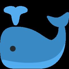 Spouting Whale twitter emoji