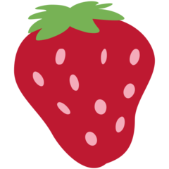 Strawberry twitter emoji