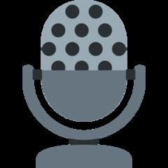 Studio Microphone twitter emoji