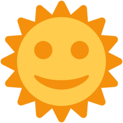 Sun With Face twitter emoji