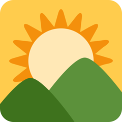 Sunrise Over Mountains twitter emoji