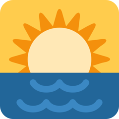 Sunrise twitter emoji
