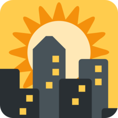 Sunset Over Buildings twitter emoji