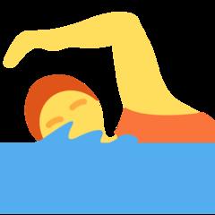 Swimmer twitter emoji