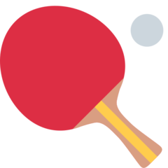 Table Tennis Paddle And Ball twitter emoji
