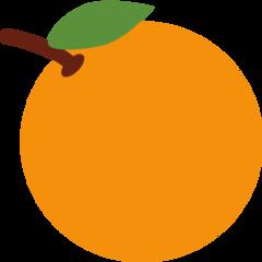 Tangerine twitter emoji