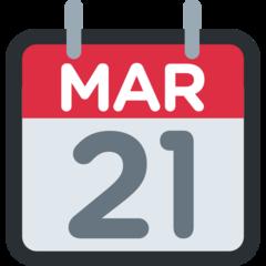Tear-off Calendar twitter emoji