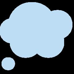 Thought Balloon twitter emoji