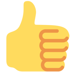 Thumbs Up Sign twitter emoji