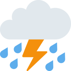 Thunder Cloud And Rain twitter emoji