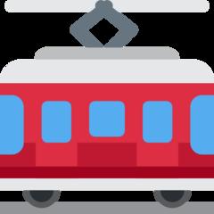 Tram Car twitter emoji