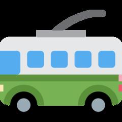Trolleybus twitter emoji