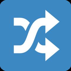 Twisted Rightwards Arrows twitter emoji