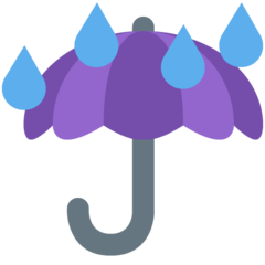 Umbrella With Rain Drops twitter emoji