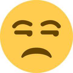 Unamused Face twitter emoji