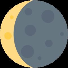 Waning Crescent Moon Symbol twitter emoji
