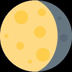 Waning Gibbous Moon Symbol twitter emoji
