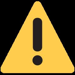 Warning Sign twitter emoji