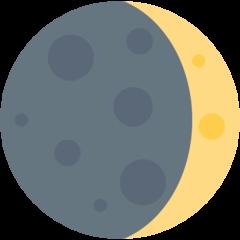 Waxing Crescent Moon Symbol twitter emoji