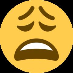 Weary Face twitter emoji