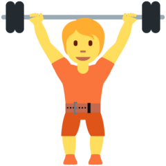 Weight Lifter twitter emoji