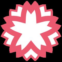 White Flower twitter emoji