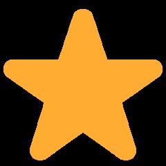 White Medium Star twitter emoji