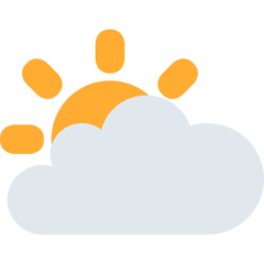 White Sun Behind Cloud twitter emoji