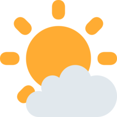 White Sun With Small Cloud twitter emoji