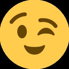 Winking Face twitter emoji