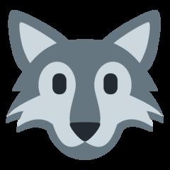 Wolf Face twitter emoji
