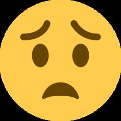 Worried Face twitter emoji