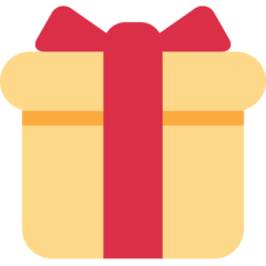 Wrapped Present twitter emoji