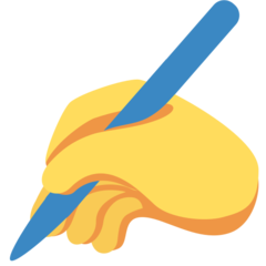 Writing Hand twitter emoji