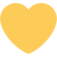 Yellow Heart twitter emoji