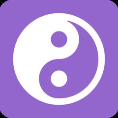Yin Yang twitter emoji