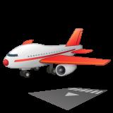 Airplane Arriving whatsapp emoji