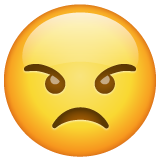 Angry Face whatsapp emoji