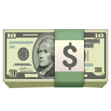 Banknote With Dollar Sign whatsapp emoji