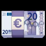 Banknote With Euro Sign whatsapp emoji